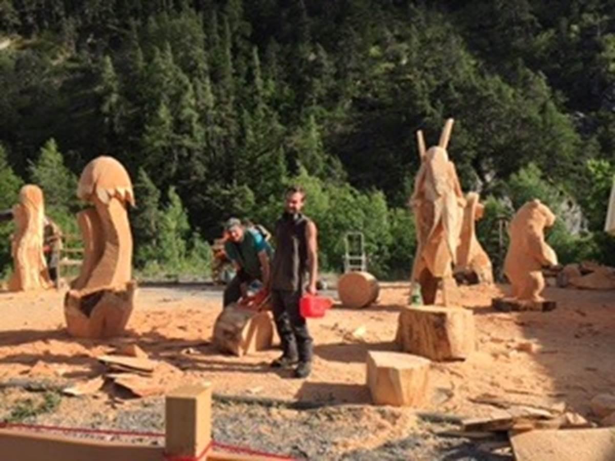 Le symposium de sculptures de juin 2016
