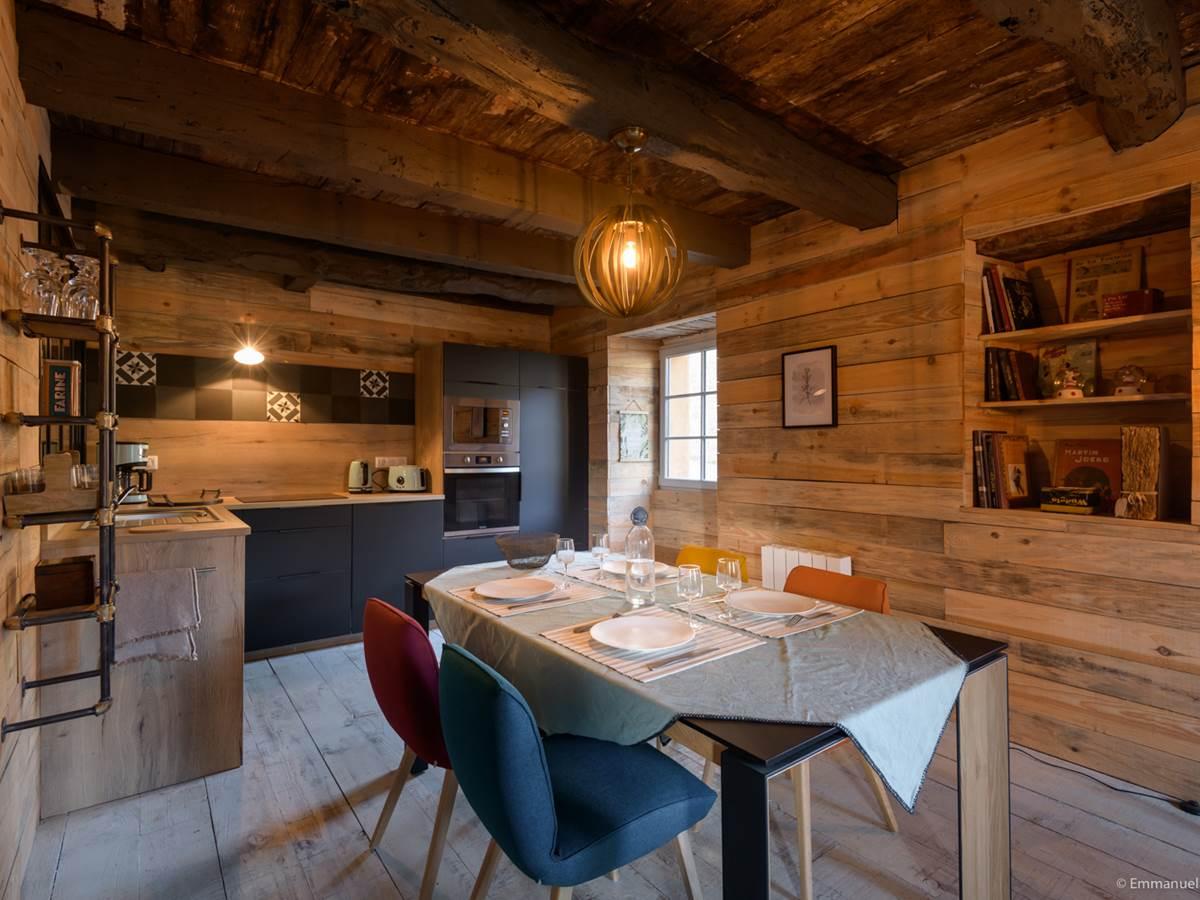 coin salle à manger gîte le Jardin intérieur à Saint Congard - Bretagne