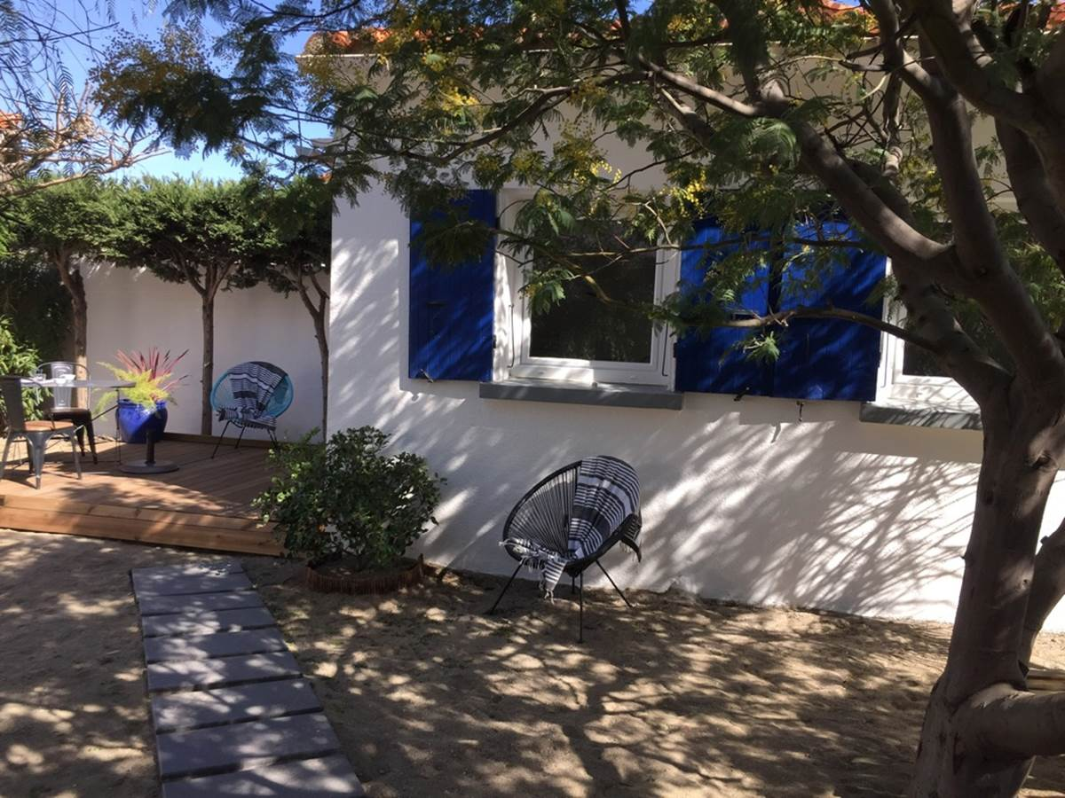 Alba Studios 1, Saint Cyprien, terrasse + jardin