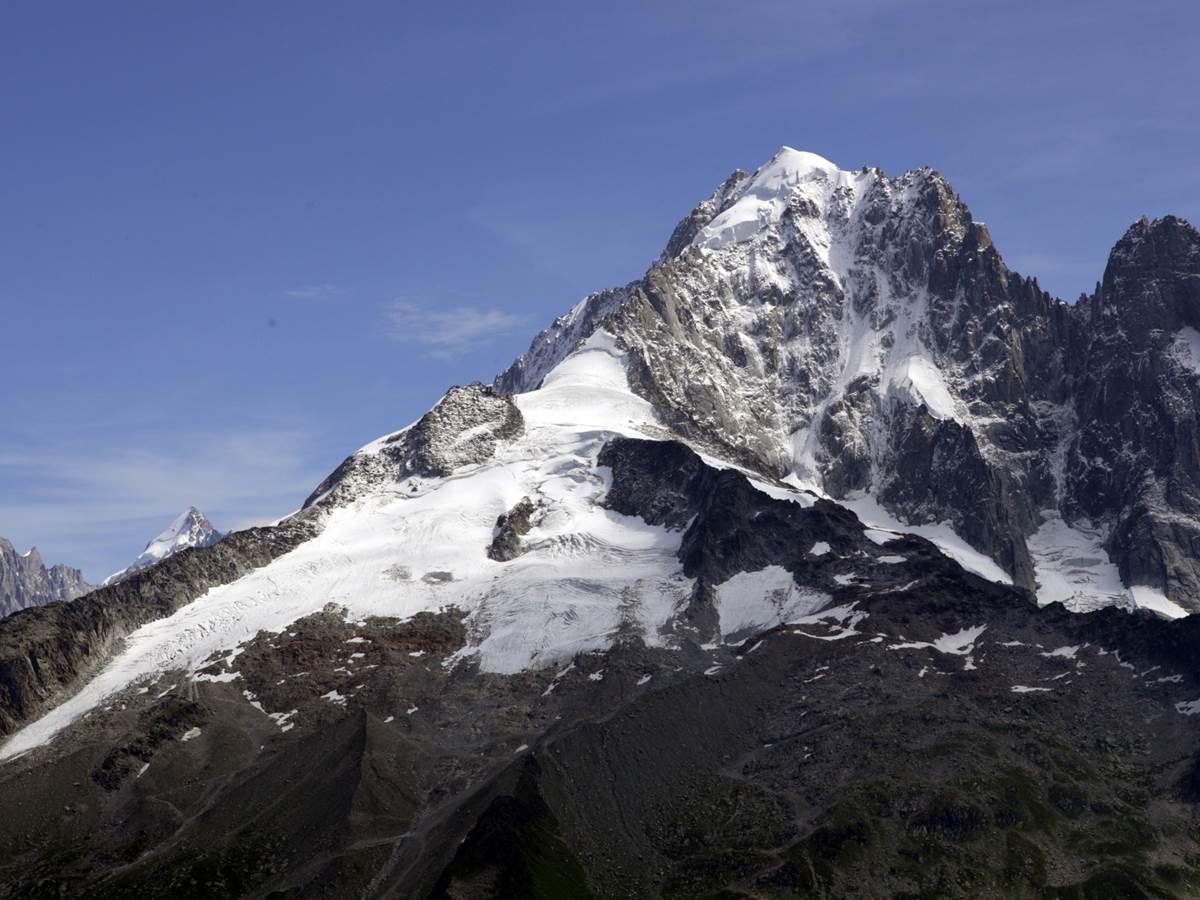 Massif du Mont-Blanc, la Verte, les Drus