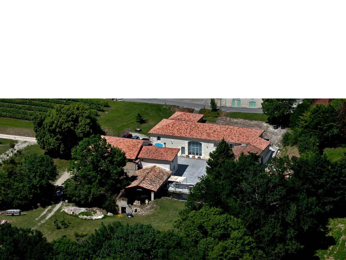 Le Moulin de Montizeau vu du ciel