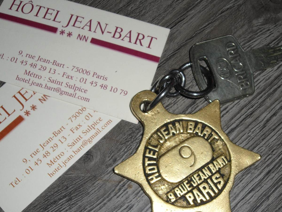 Carte Visite hôtel Jean Bart rue Jean Bart Paris