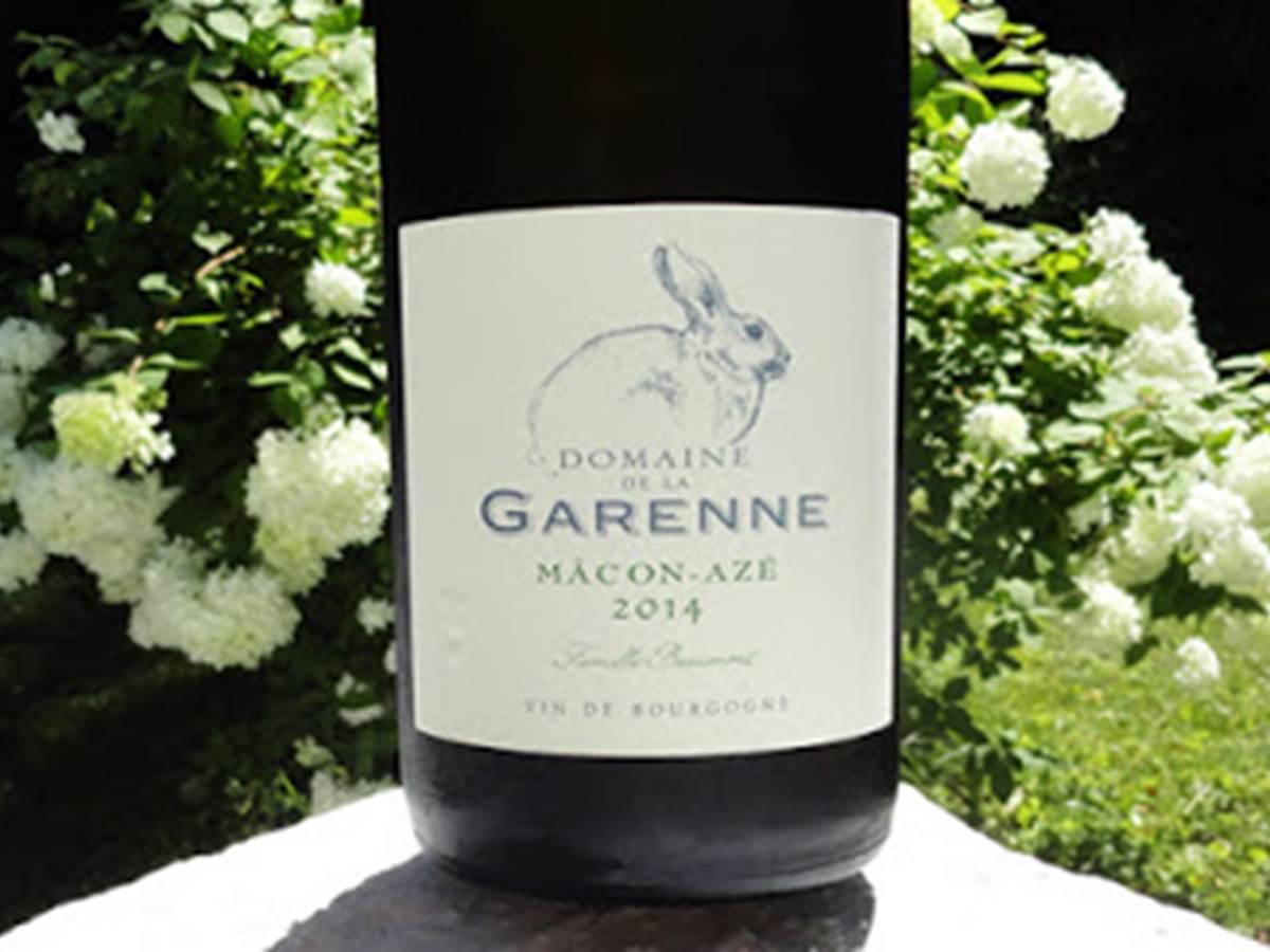 Mâcon-Azé  Domaine des Garennes 14 € les 75 cl 2014-2015-2016