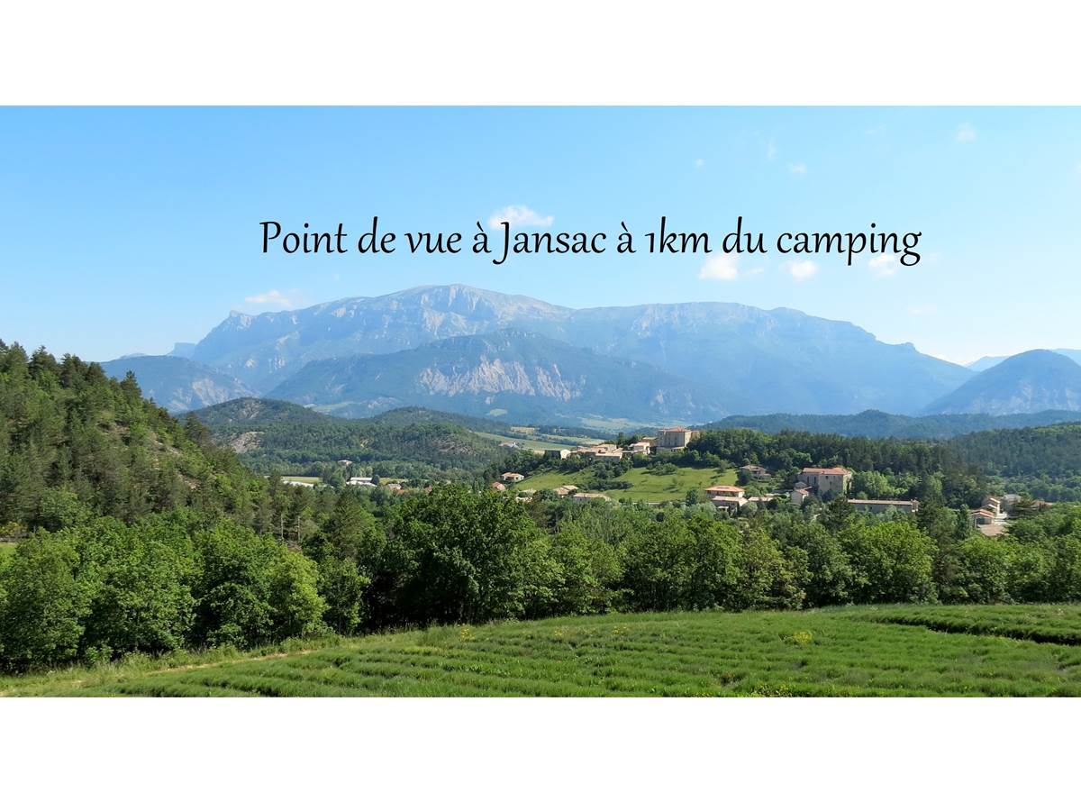 Point de vue à Jansac à 1km du camping