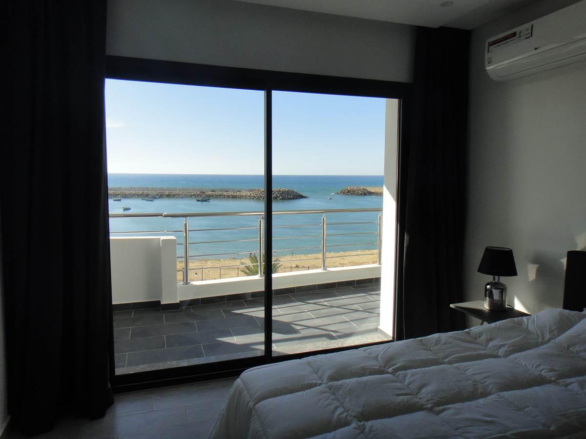 Chambre des appartements vue mer