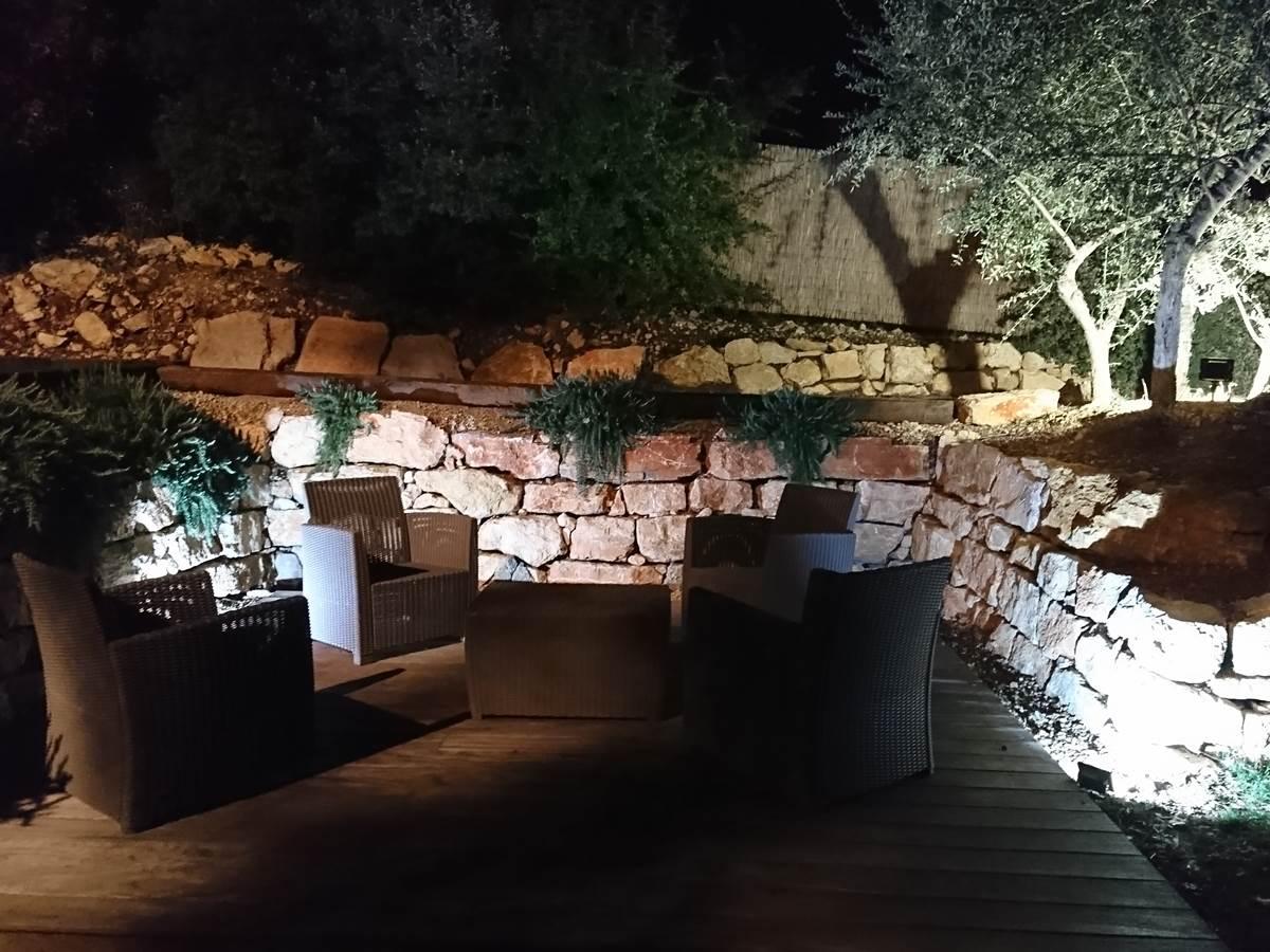 terrasse de nuit soirée romantique chambre hote flayosc var piscine provence tourtour salernes lorgues draguignan thoronet mer verdon charme
