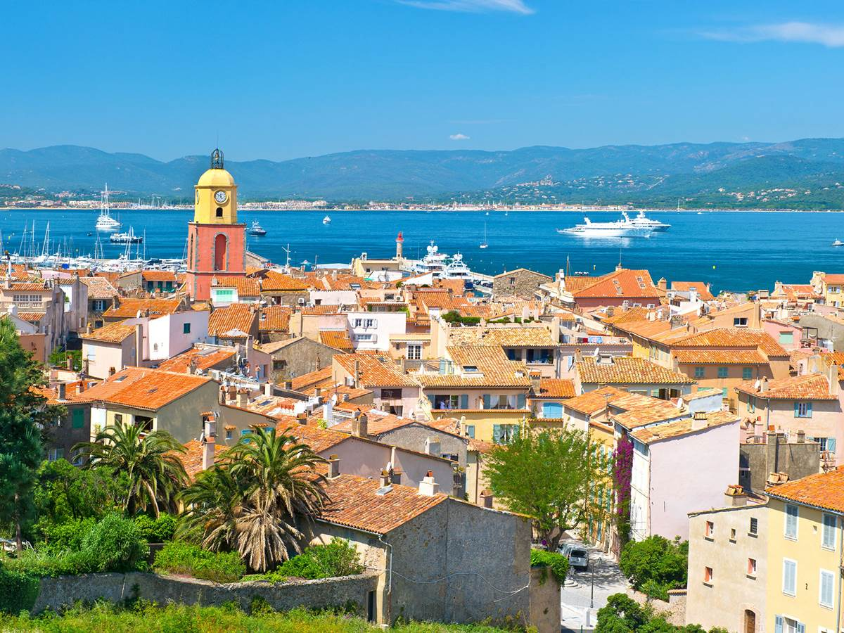 Vue aérienne de Saint-Tropez