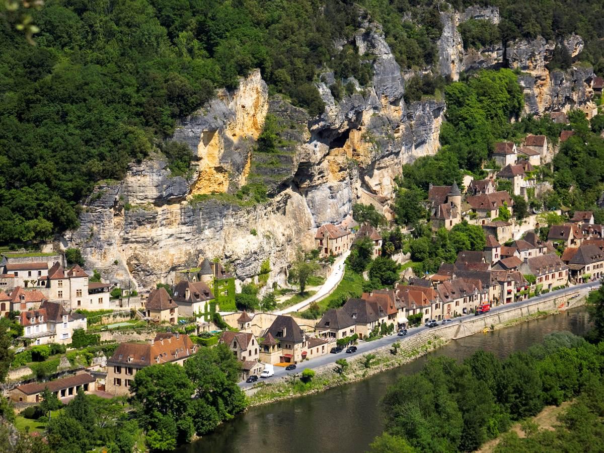 Le village de La Roque-Gageac depuis Marqueyssac