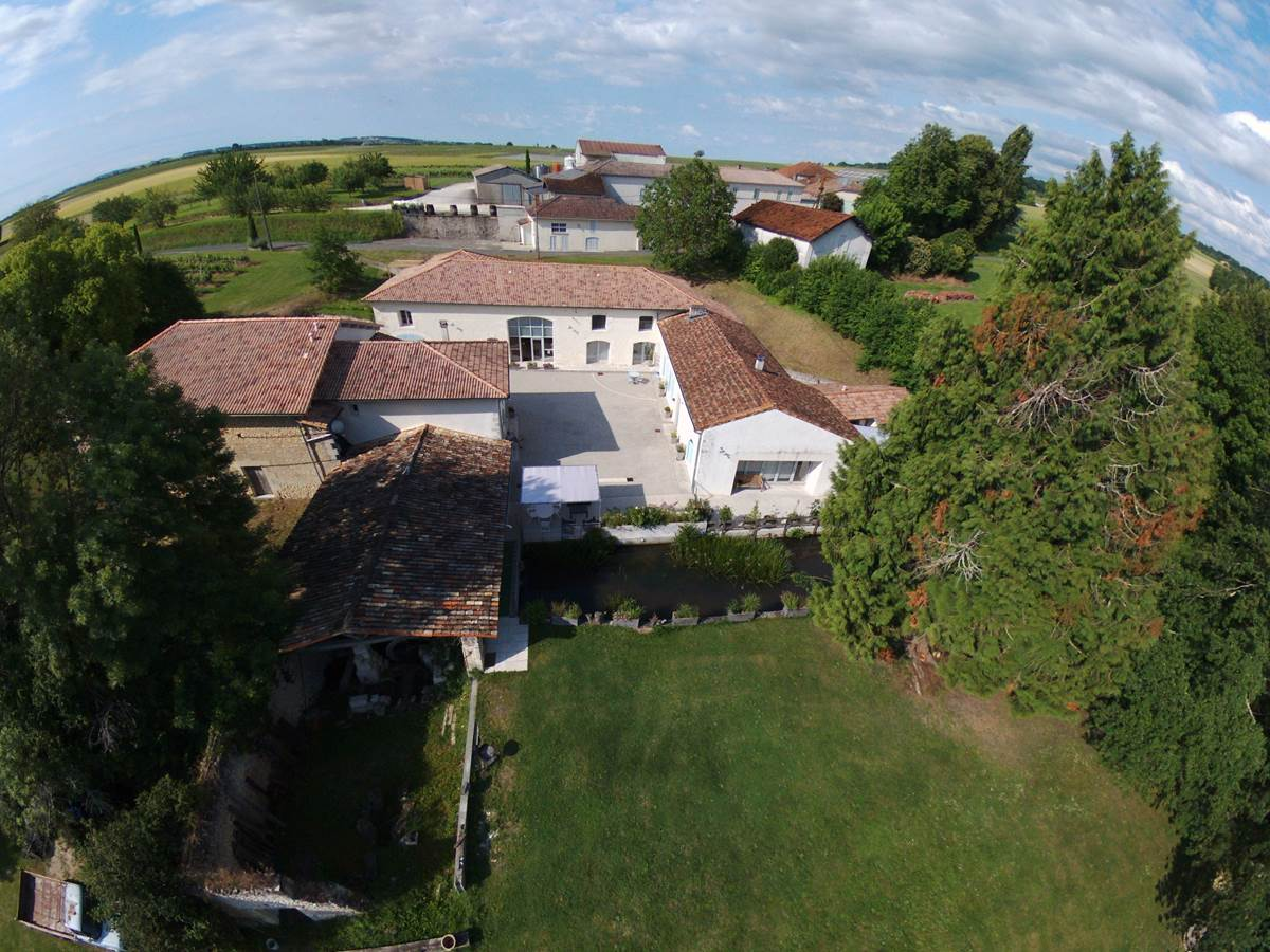 Vue aérienne Moulin de Montizeau