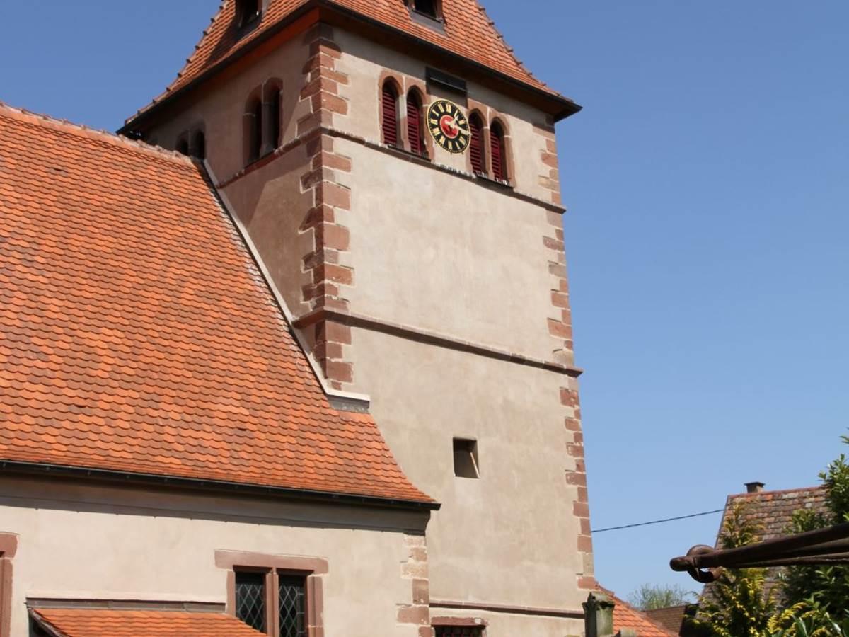 l'église romane et fortifiée de wintzenheim kochersberg