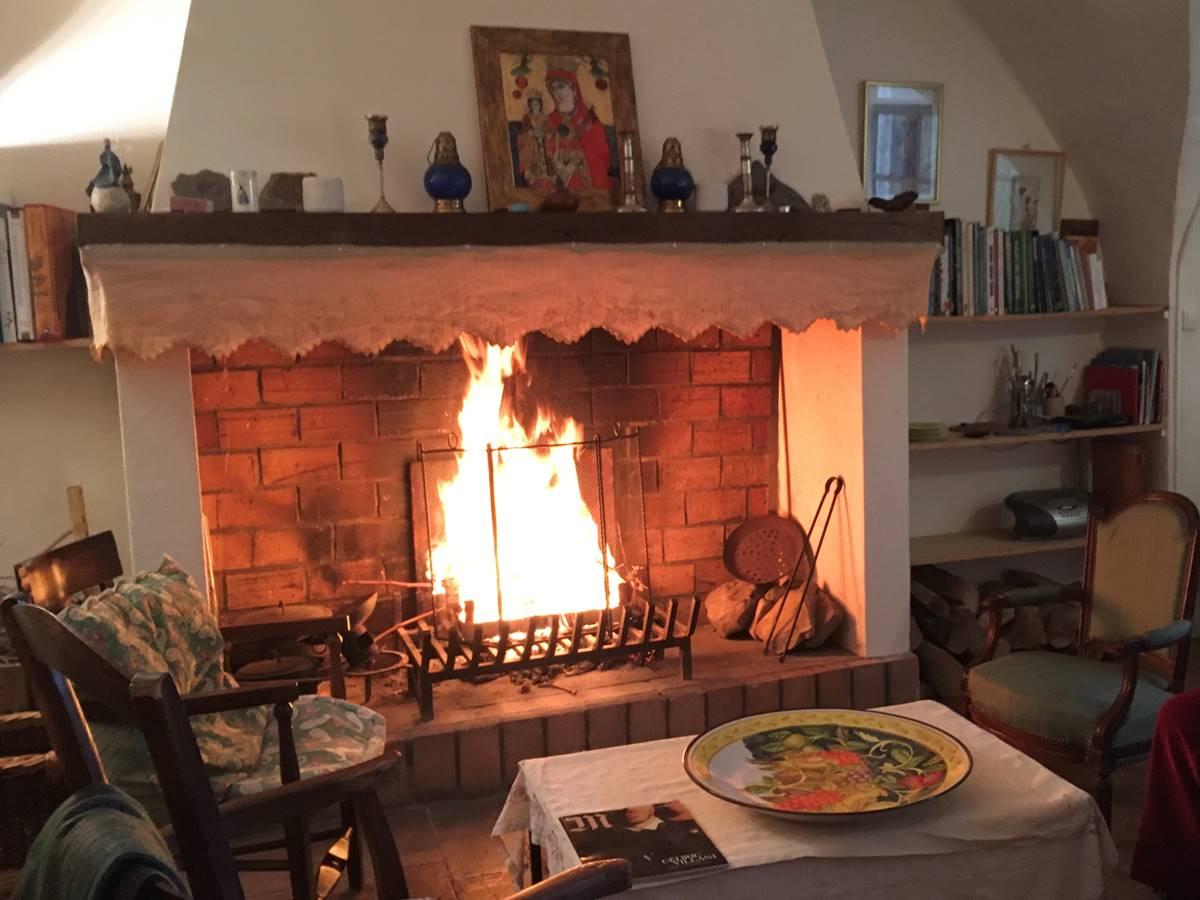 au coin du feu aux Asphodèles en Cévennes