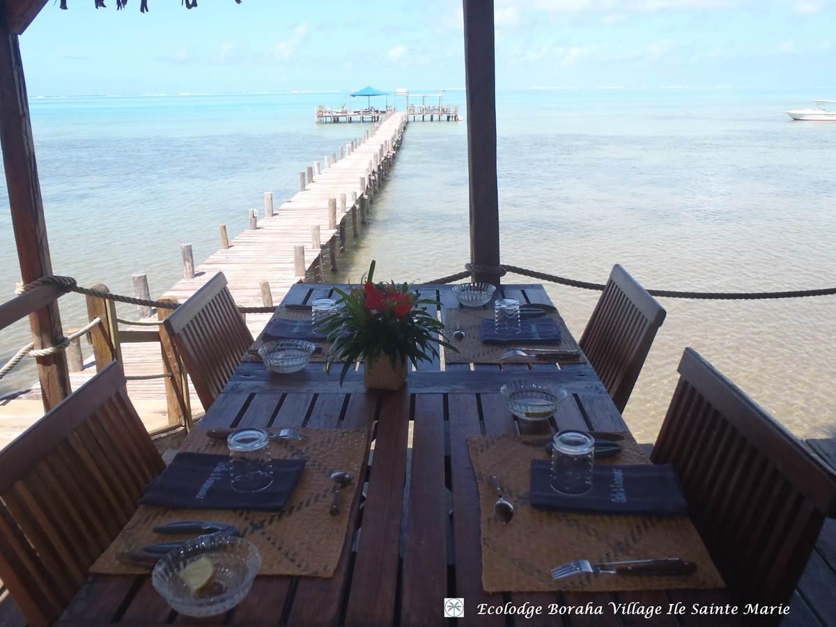 Terrasse Restaurant Boraha VIllage Ile Ste Marie Madagascar 05