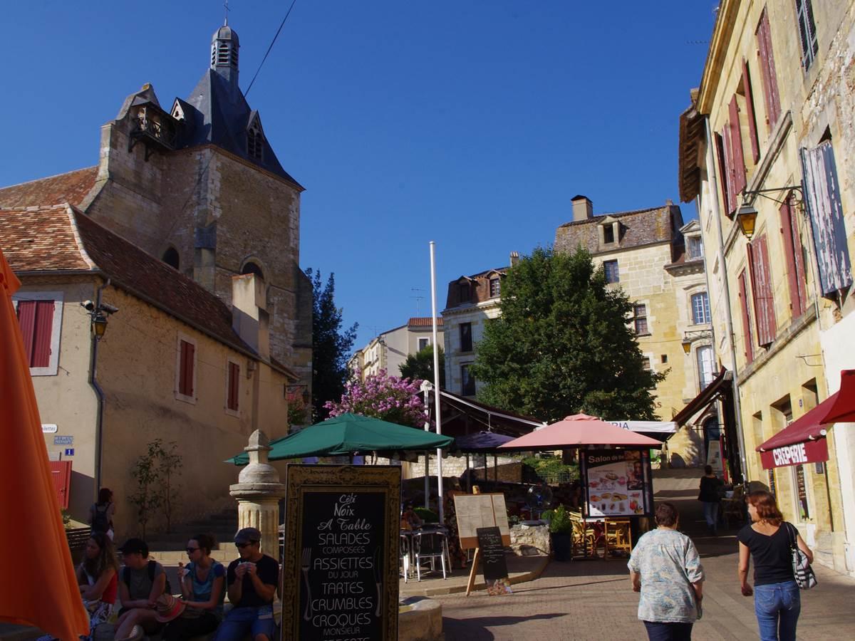 La place Pelissière à Bergerac