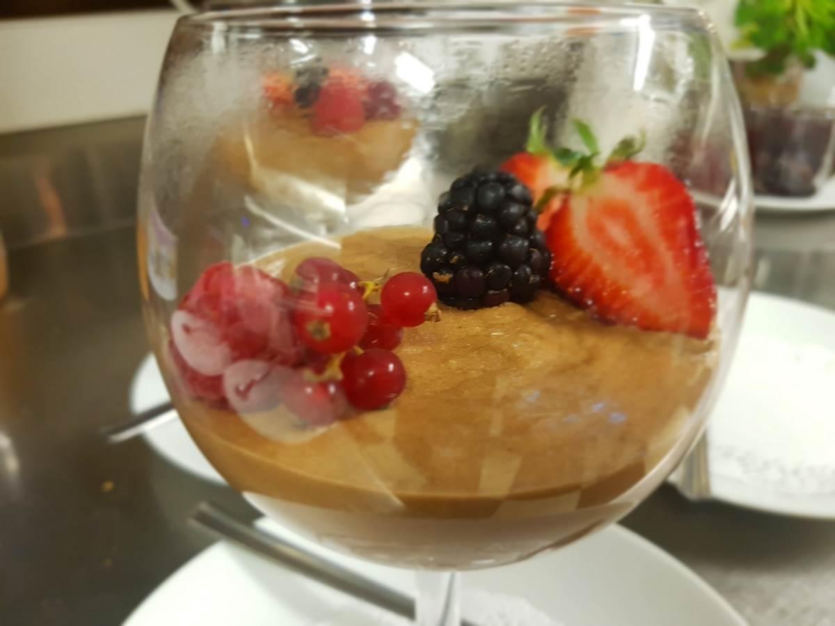 dessert mousse au chocolat Valrhona le Ranch des Lacs restaurant