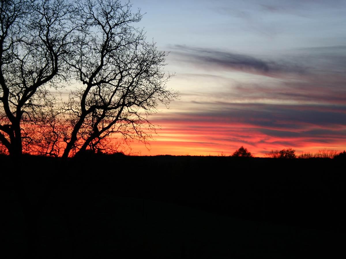 Un coucher de soleil à La Landre