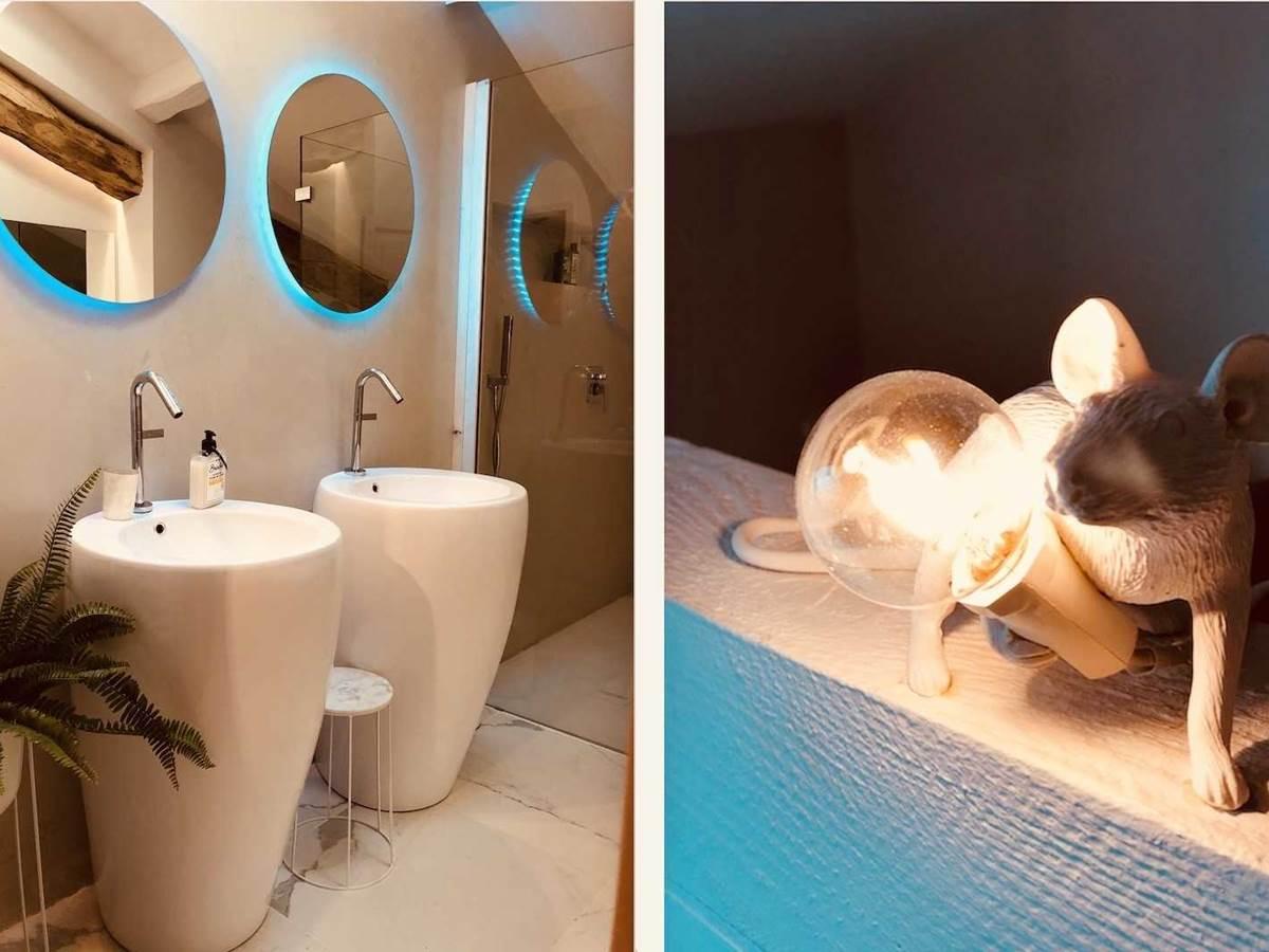 Suite Cypres et Acacias salon de douche chambre-d-hote-lesmatinsrubis-tarn-et-garonne-occitanie-location-toulouse