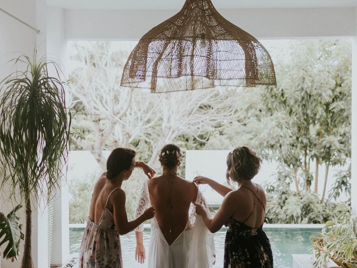 L'habillage de la mariée Jardin de Ravintsara
