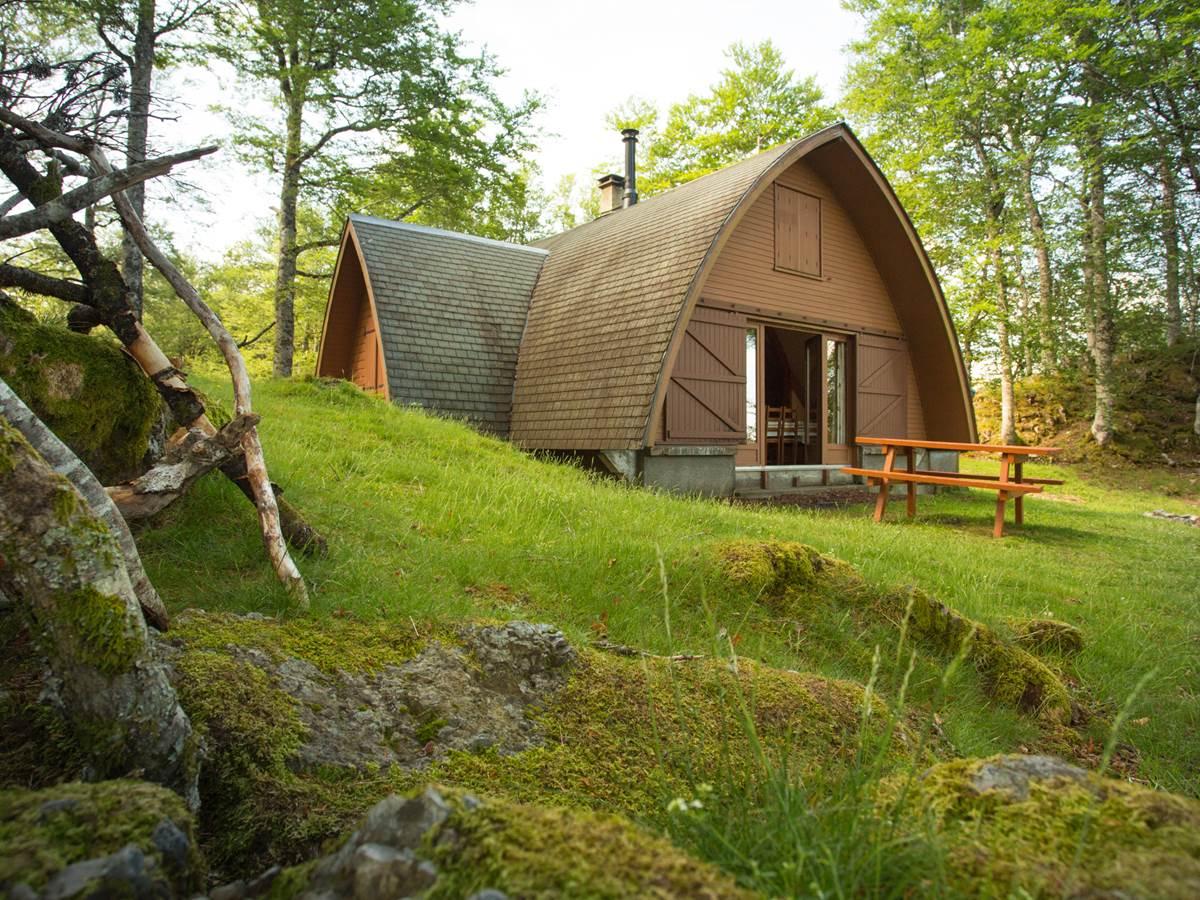Le chalet Aspin et sa cabane éphémère