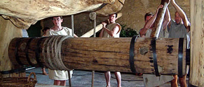 Mas Gallo-Romain des Tourelles - Pressurage