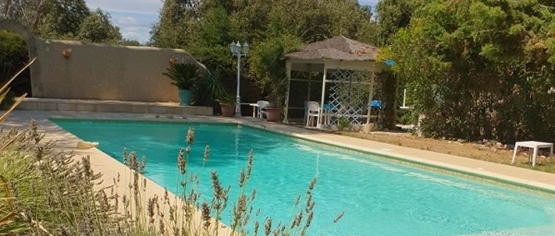 Le mas des chênes verts piscine