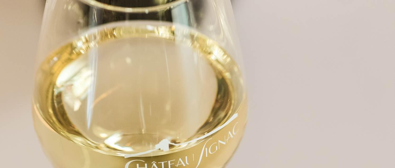 chateau Signac_Verre de vin blanc