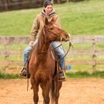 Eva sur le cheval Spirit