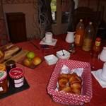 Petit déjeuner avec nos produits locaux
