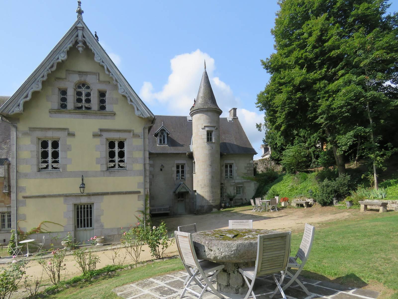 Château de Crocq, côté parc.