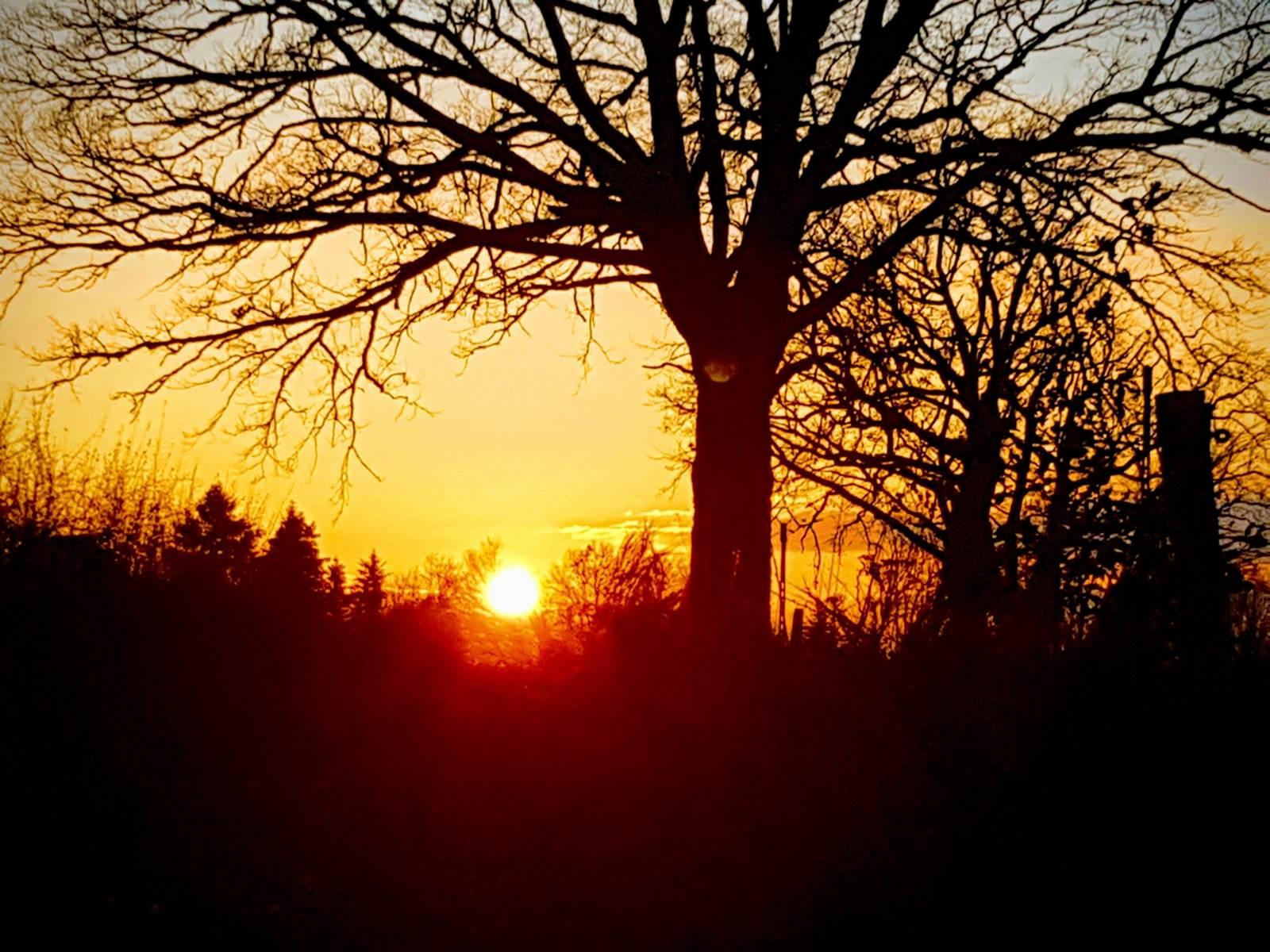 couché de soleil en Limousin Chambre Le Ranch des Lacs 87120