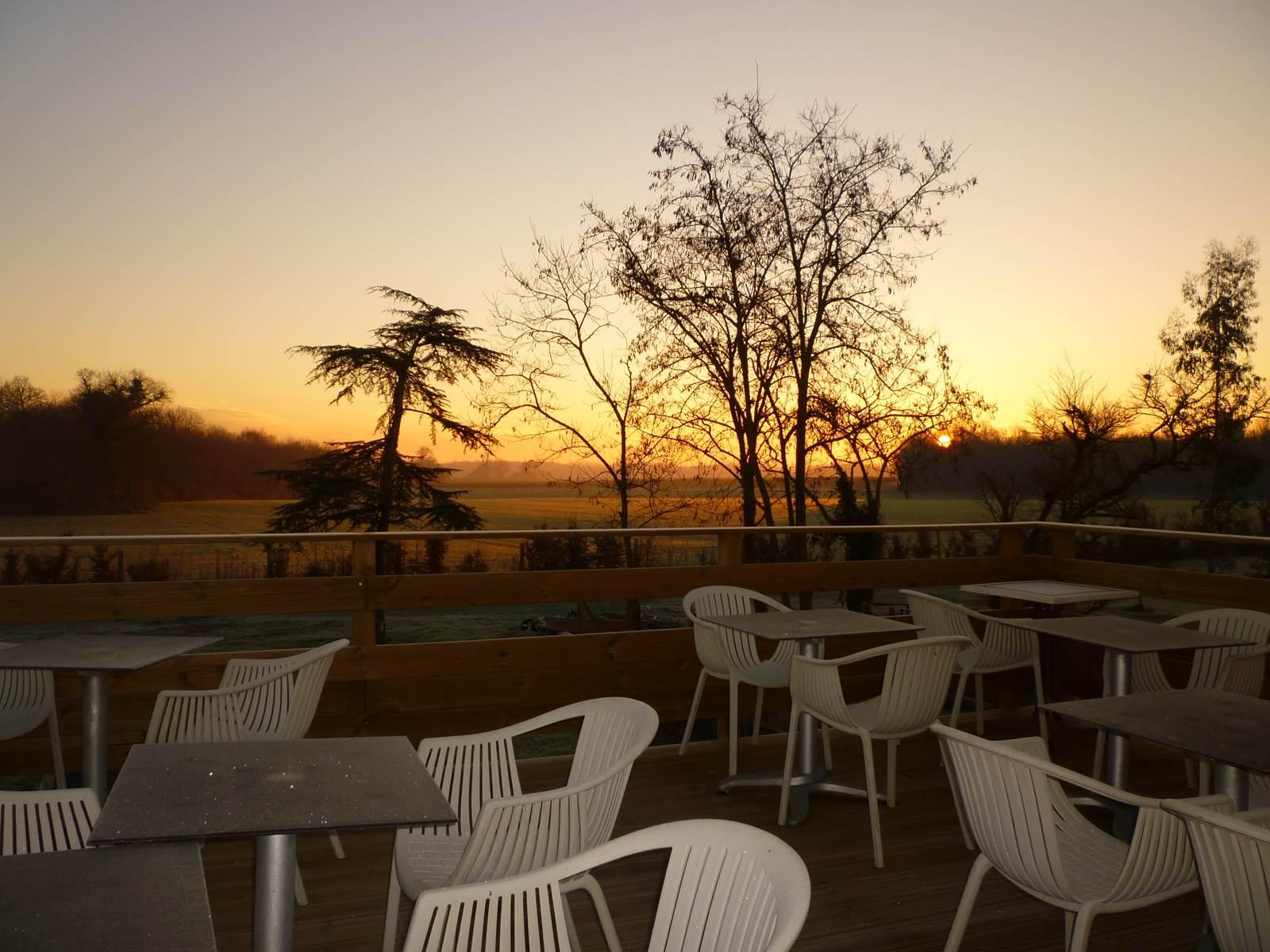 Lever de soleil depuis la terrasse panoramique