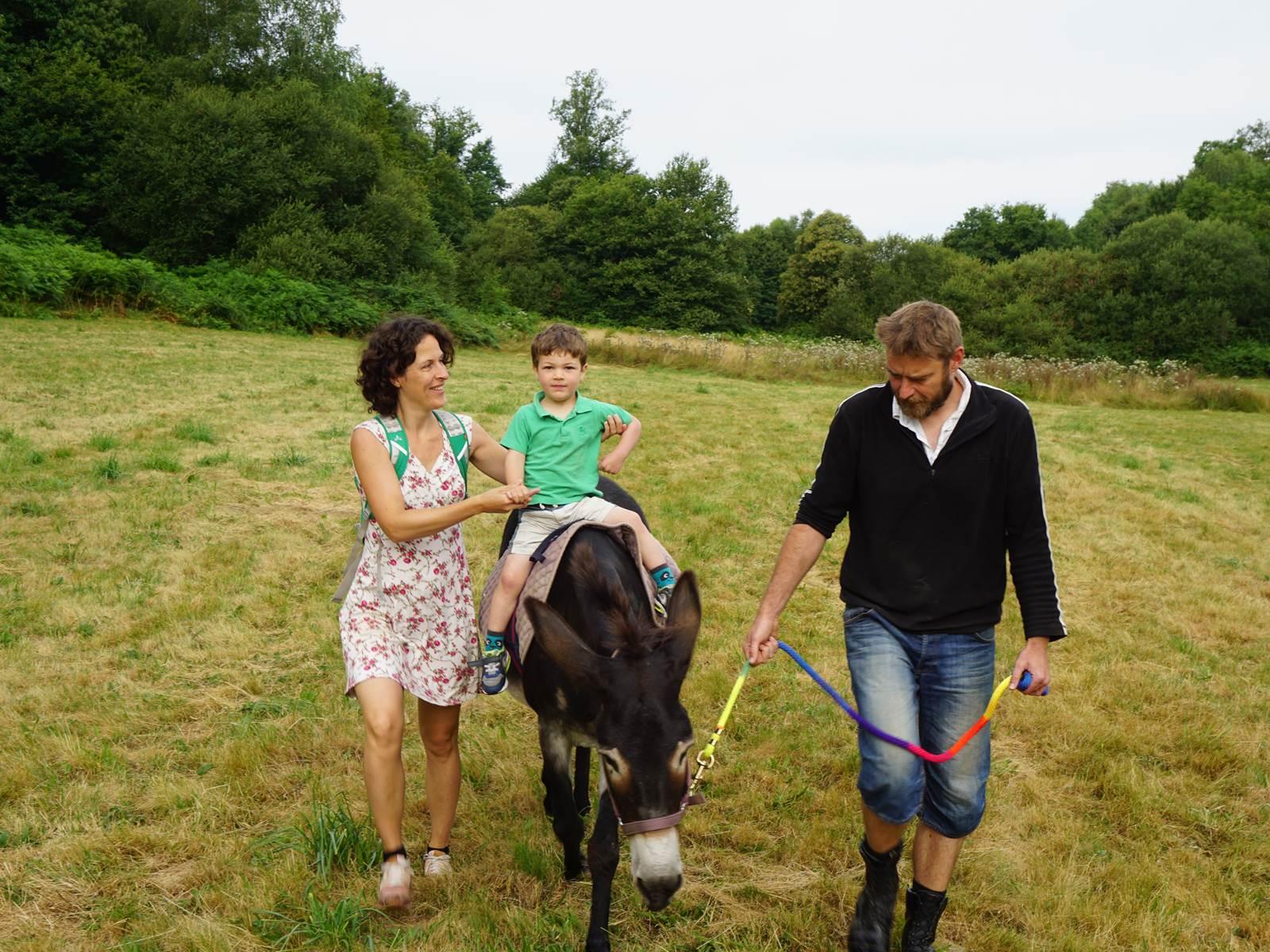 randonnées avec l'âne