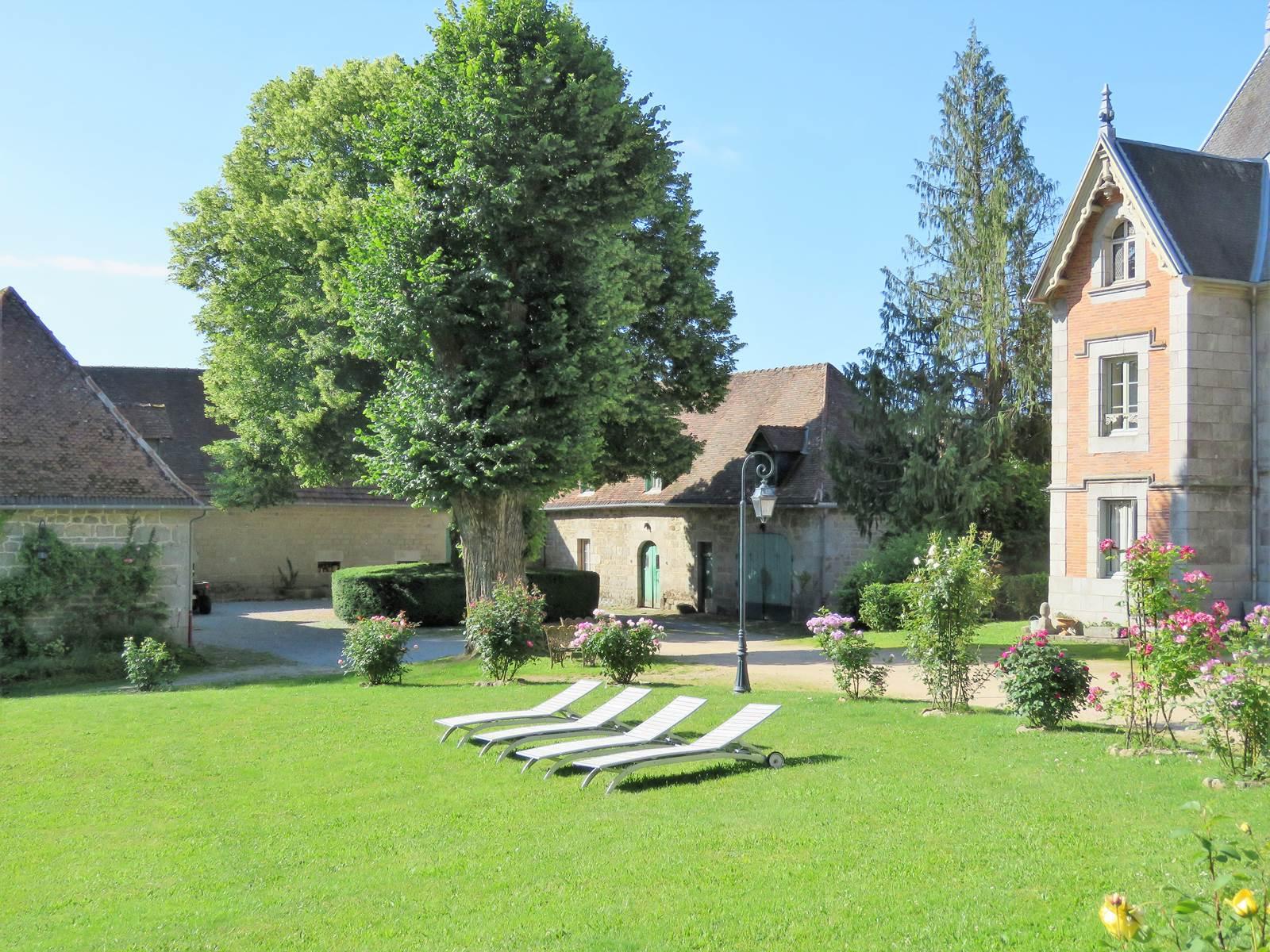 Château de Crocq, le parc.