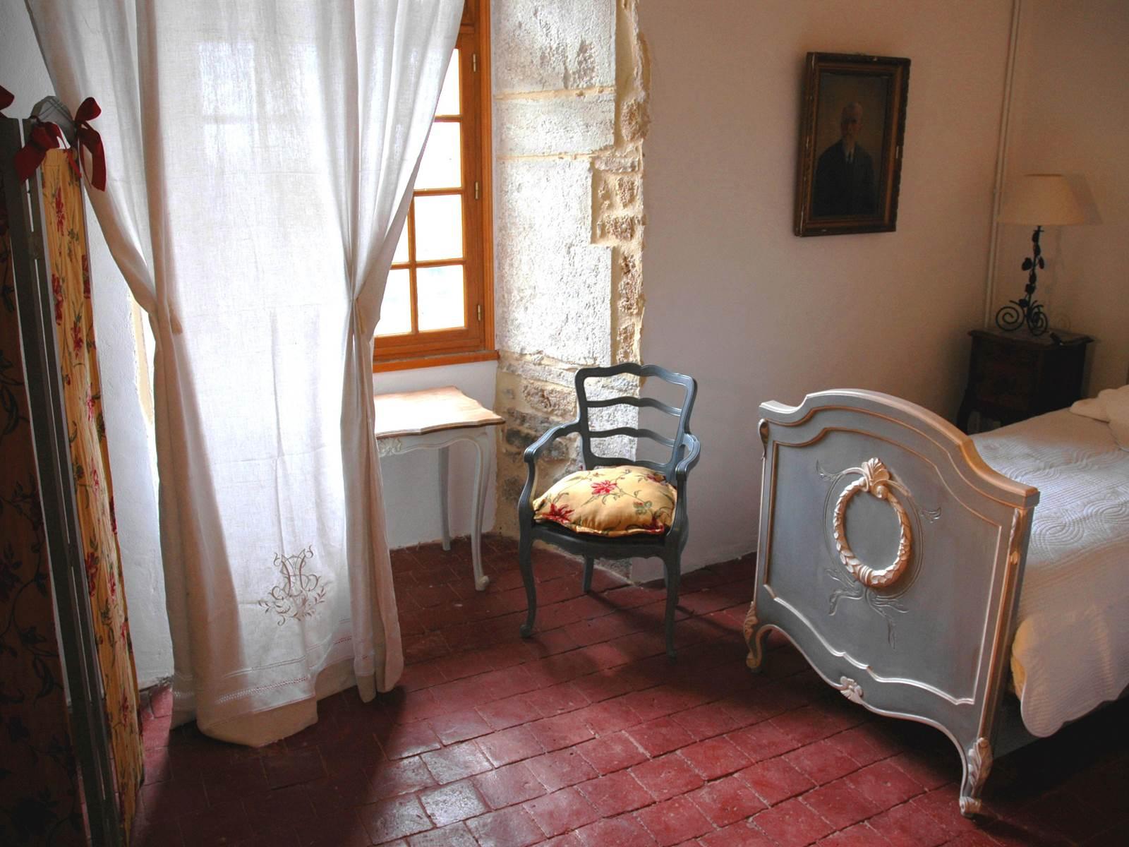 La chambre au sud avec ses deux lits jumeaux