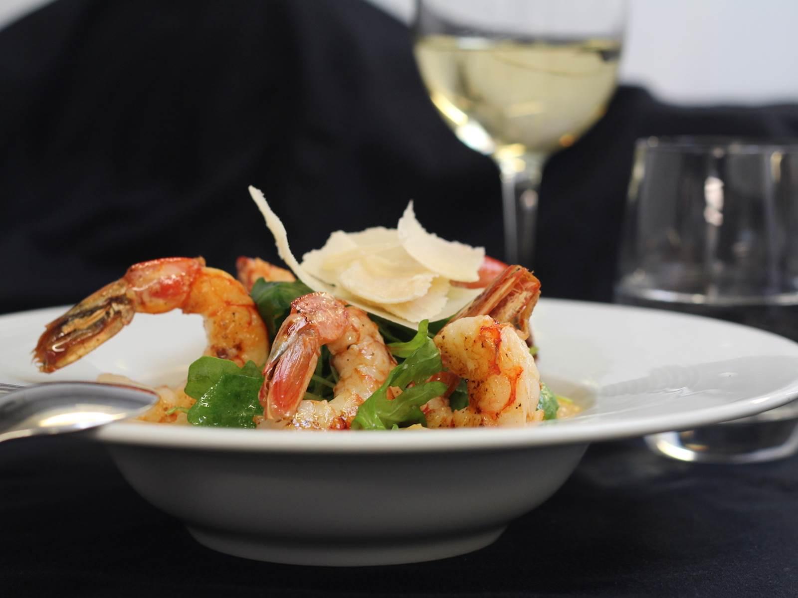 Risotto de gambas Ho^tel restaurant le Rond Point Hossegor Landes