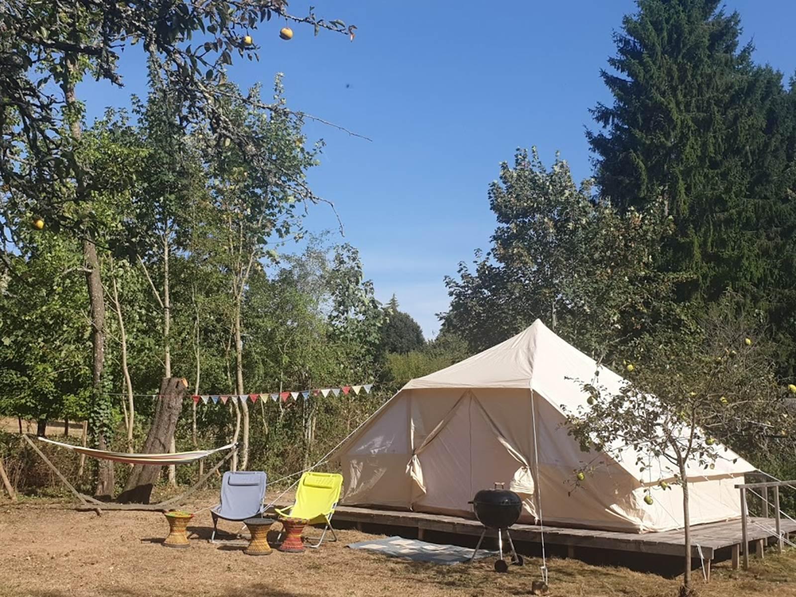la tente équipé accueil paysan