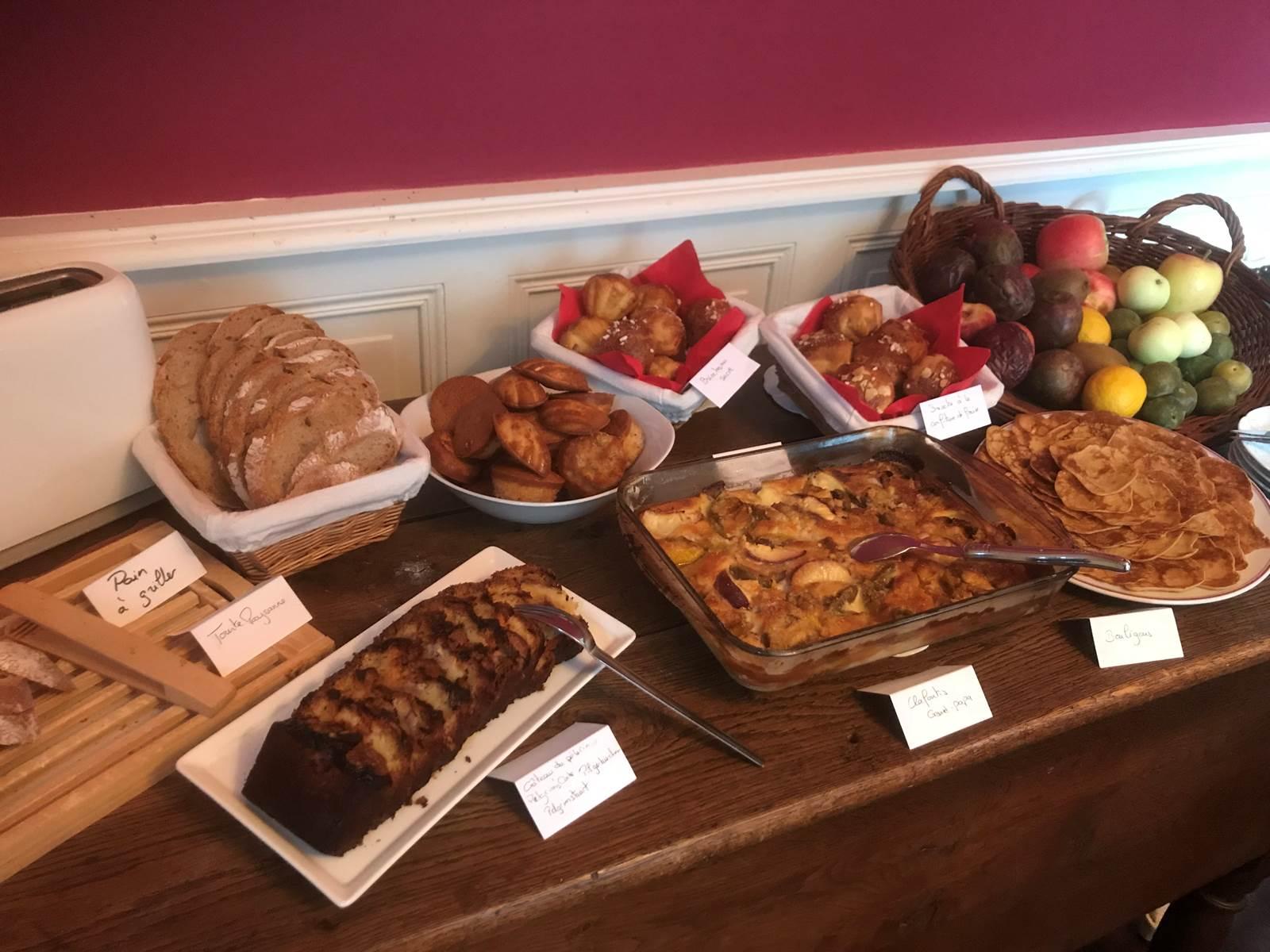 Le Jardin des Lys - Buffet du petit-déjeuner