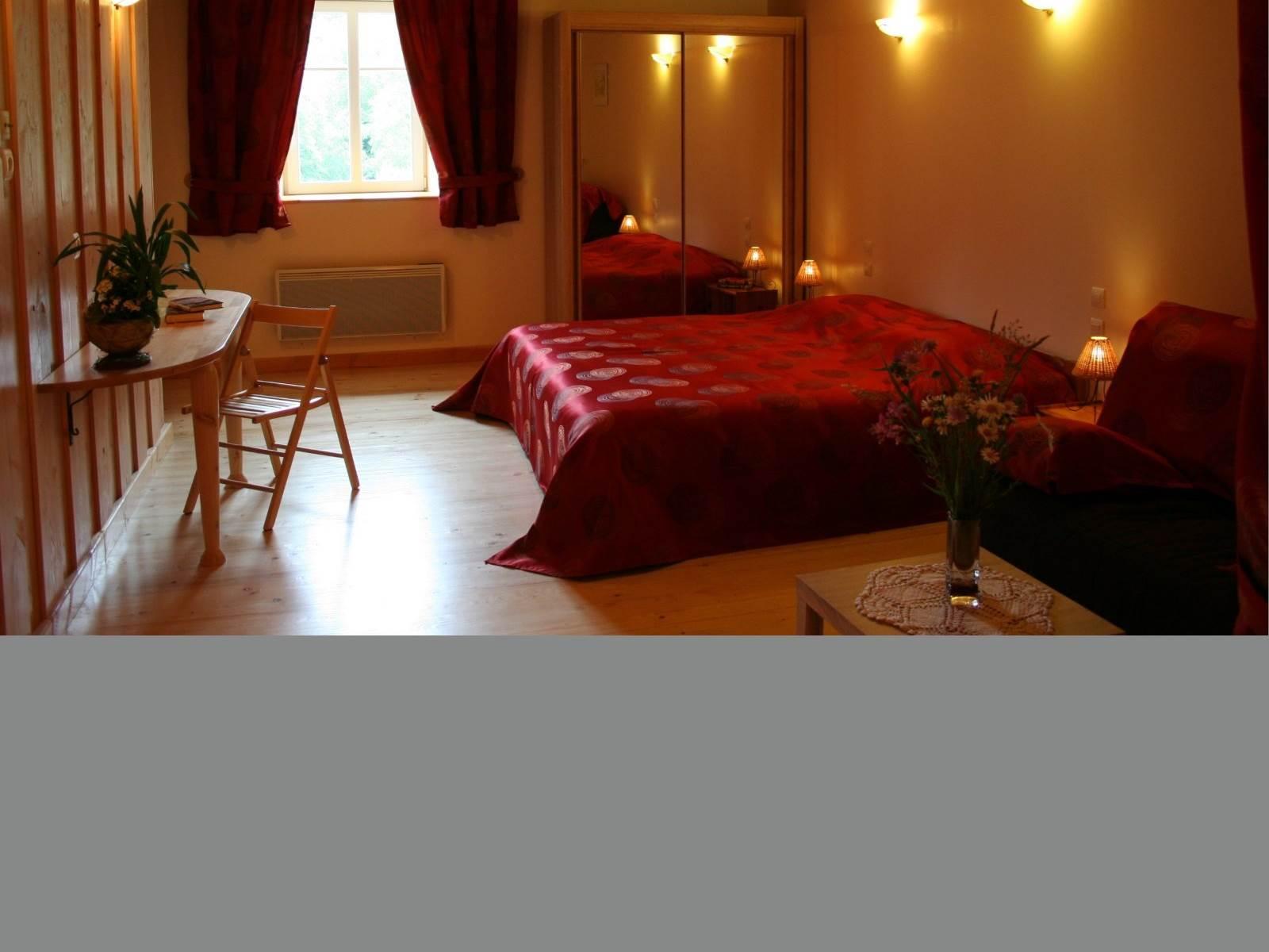 Chambre d'hôtes Rubis de 35m² ,  2 à 5 personnes La landre, Le Clerjus, Bains les Bains, la Voge les Bains, Lorraine, Vosges