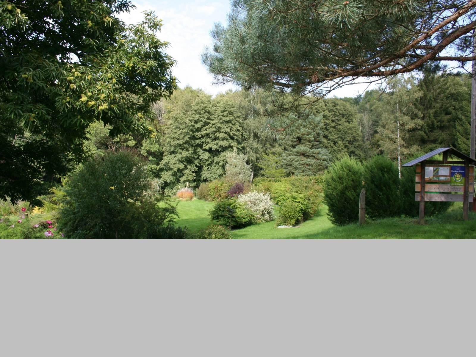 Le Jardin d'agrément vu des chambres d'hôtes la Landre