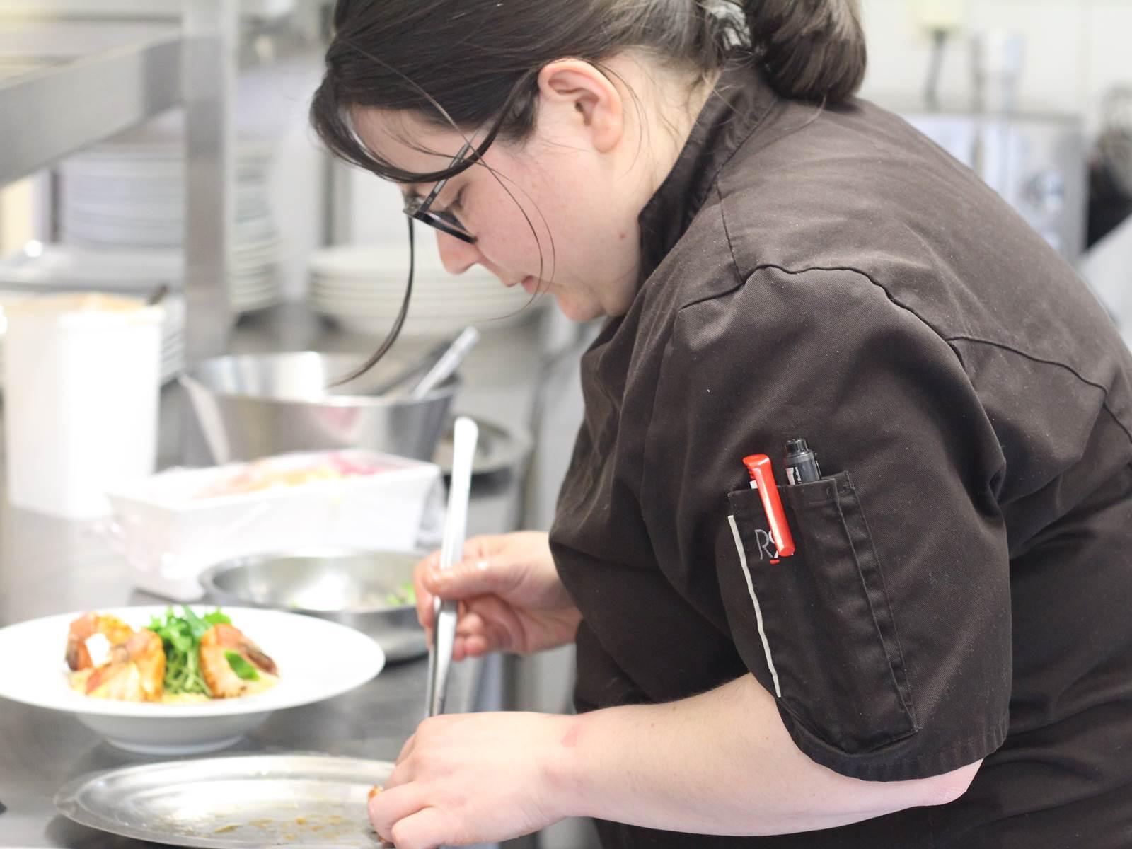 Aurelie PINON Chef restaurant Le Rond Point d'hOr Hossegor