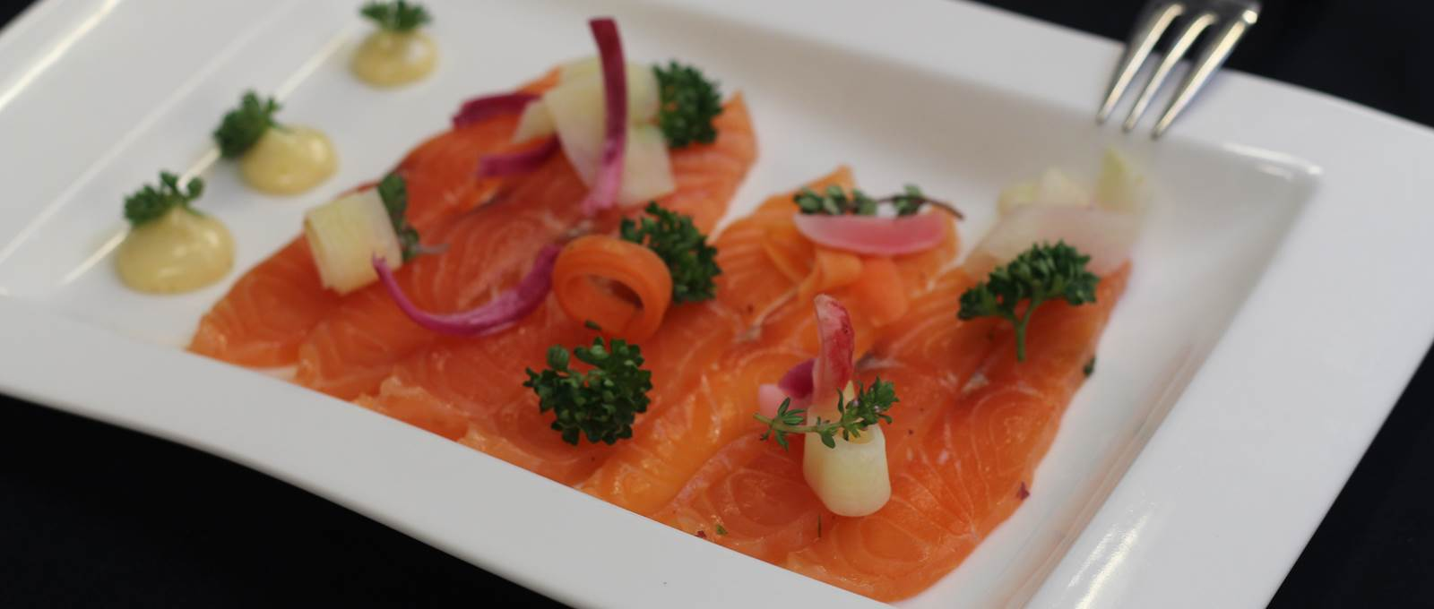 Saumon gravlax restaurant Le Rond Point d'hOr Hossegor