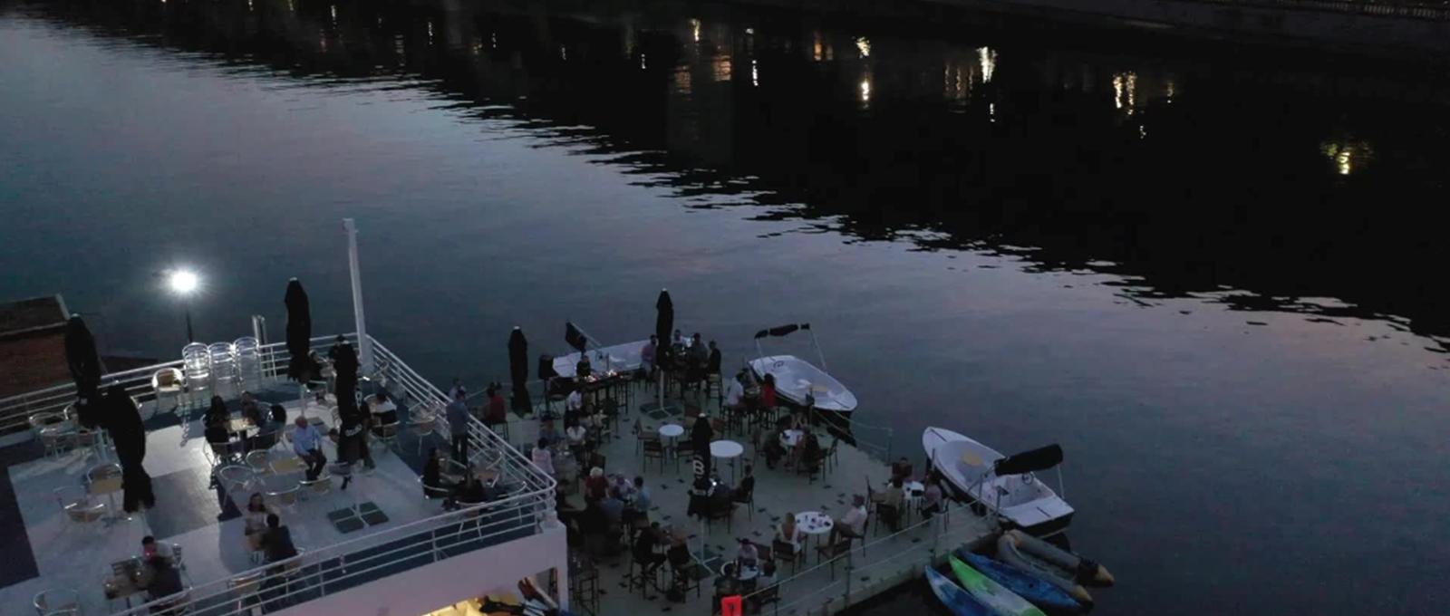 Terrasse-soir - Les Capitaineries de Namur