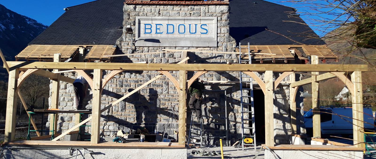 hotel Bedous - gare - veranda