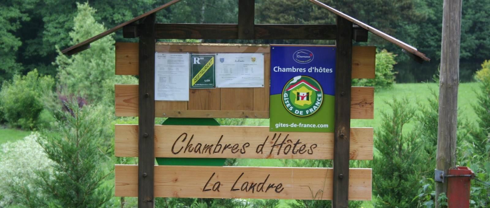 Vous êtes arrivés à votre destination. Nous vous souhaitons un excellent séjour. Chambres et table d'Hôtes « La Landre » la Vôge les Bains, Bains les Bains, Le Clerjus.