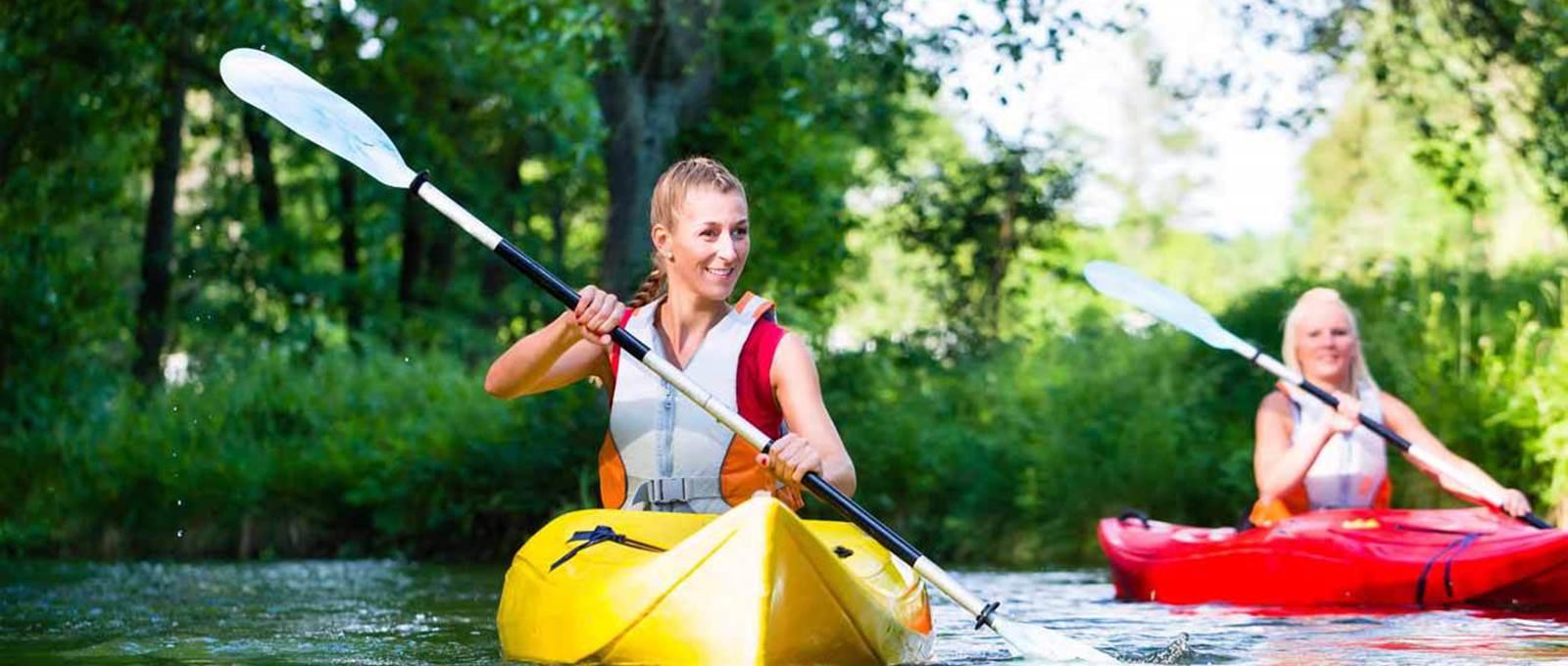 Canoe La Marqueze partenaire Hotel Le Rond Point Hossegor Landes