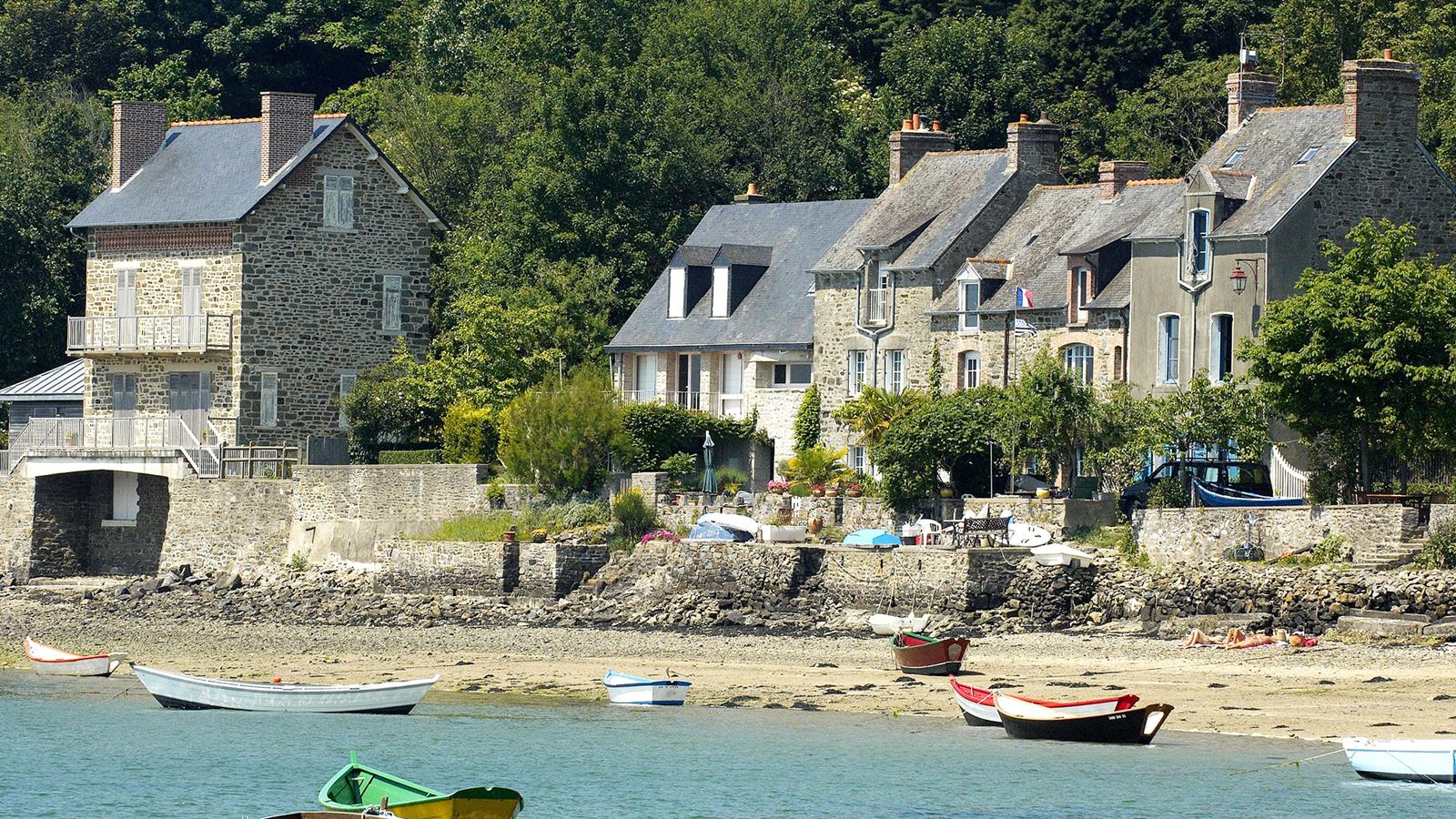 Saint-Suliac, authentique petit port de pêche sur l'estuaire sur la Rance