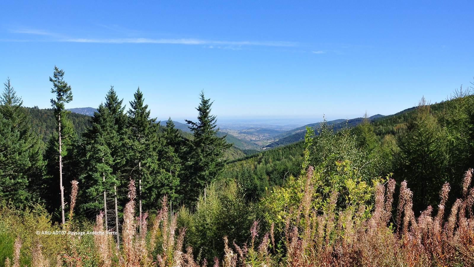 L'Ardèche verte, la partie nord de l'Ardèche