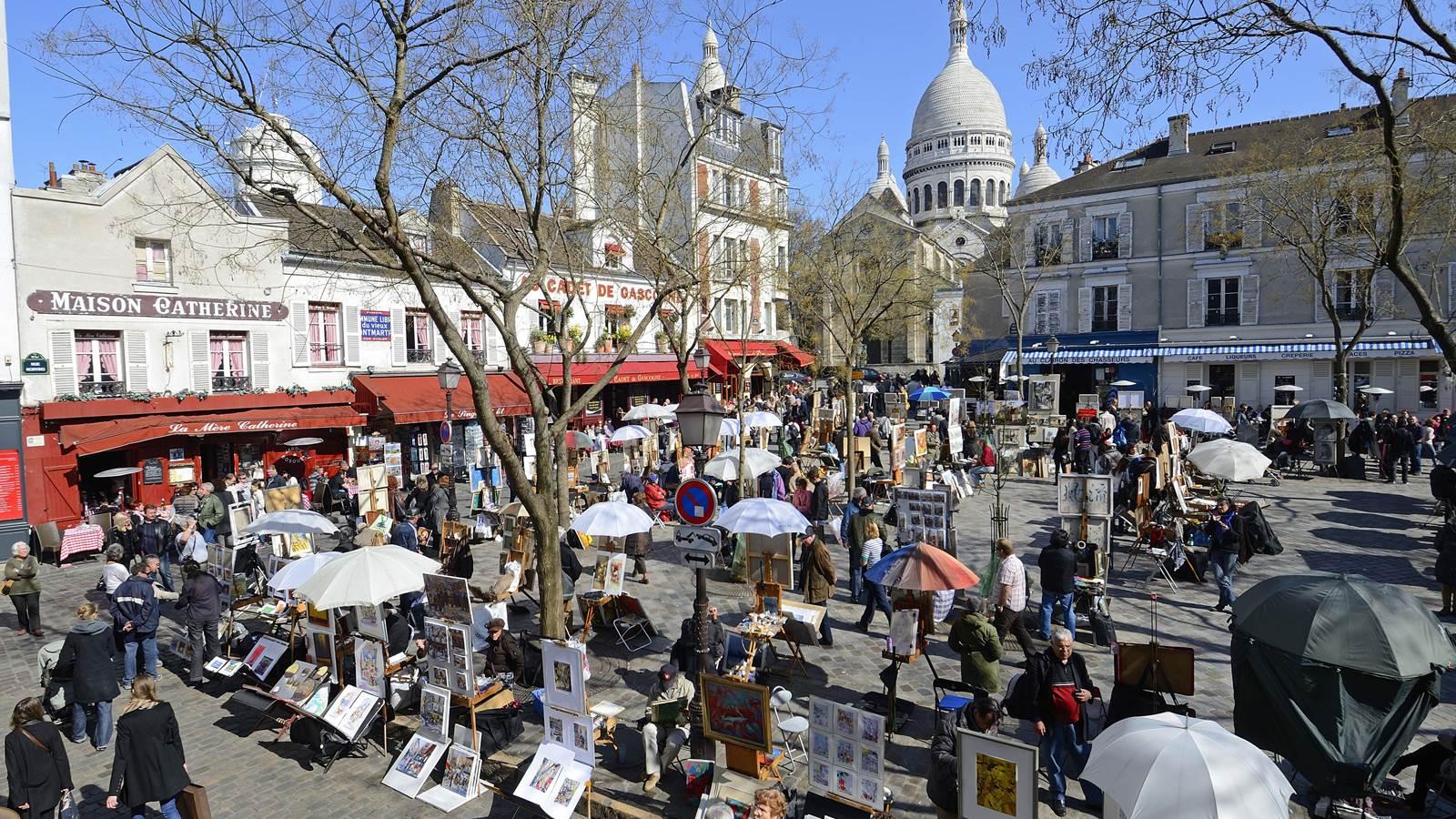 Montmartre et la basilique du Sacré-Cœur
