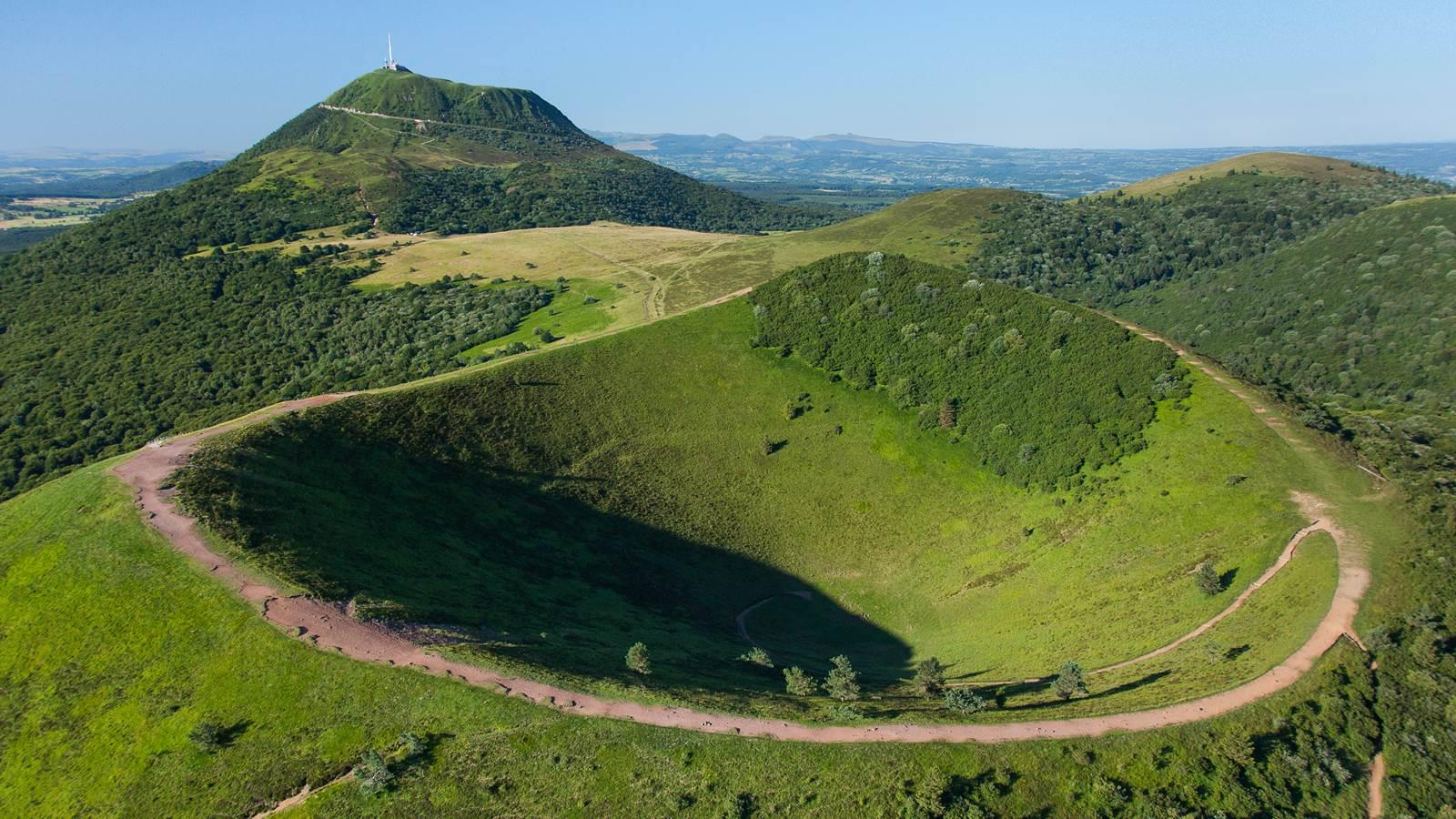 Le puy de Dôme et le parc des Volcans d'Auvergne