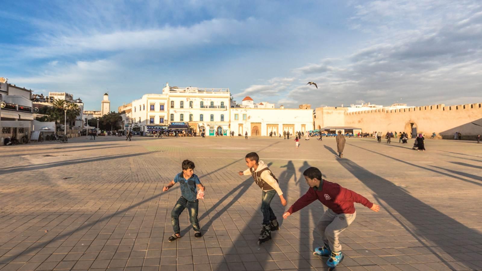 Les ruelles et places de la médina Essaouira