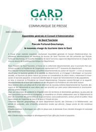 Assemblée générale et Conseil d'Administration de Gard Tourisme